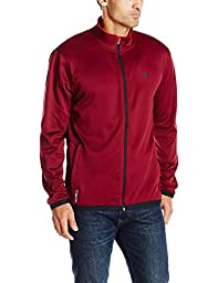 Champion Men\'s Performance Fleece Jacket, Bordeaux Red/Champion Scarlet, Small