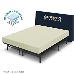 """Luxtouch 6"""" fort Memory Foam Mattress and Frame Box"""