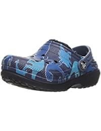 Crocs Classic Lined Graphic Girls Clog In Blue