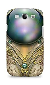 Amez designer printed 3d premium high quality back case cover for Samsung Galaxy S3 i9300 (Brooch patterns ball color)