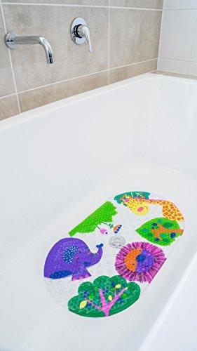 Safest Non-Slip Baby Bath Mat for Tub - Perfect for Bathroom and Kids - Money Back Guarantee Bub Bath