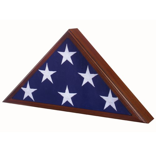 Star Legacy American Made Veteran Flag Case, Walnut