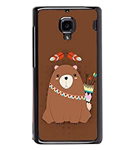 Warrior Bear 2D Hard Polycarbonate Designer Back Case Cover for Xiaomi Redmi 1S :: Xiaomi Redmi 1