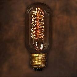 KINGSO E27 40W Edison Lampe T45 Radial Vintage Lampe Glühbirne Ideal für Nostalgie Retro Antik Stil Beleuchtung Decorative Industry 220V