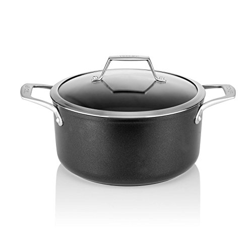TECHEF - Onyx Collection - 5-quart Soup Pot with Glass Lid, coated with New Teflon Platinum Non-Stick Coating (PFOA Free) (5-quart)