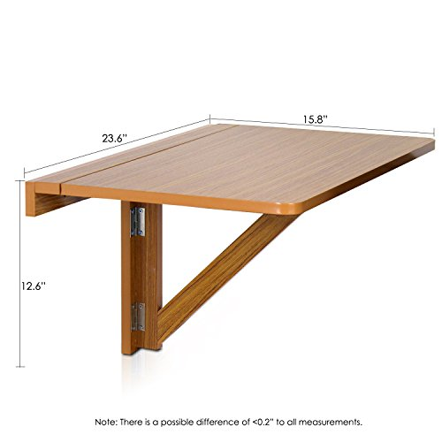 Furinno fnaj 11019ex wall mounted drop leaf folding table - Wall mounted folding table ...