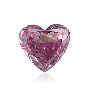 0.13Cts Fancy Intense Purple Pink Loose Diamond Natural Color Heart Shape GIA