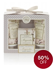 Floral Collection Magnolia Hand Treats