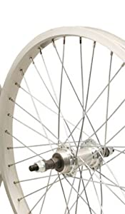 Sta-Tru Silver Alloy Bmx 1 Speed Freewheel Hub Rear Wheel (20X1.75-Inch) by Sta Tru