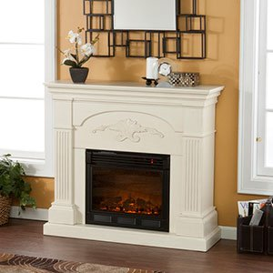 Holly & Martin Salerno Electric Fireplace In Ivory
