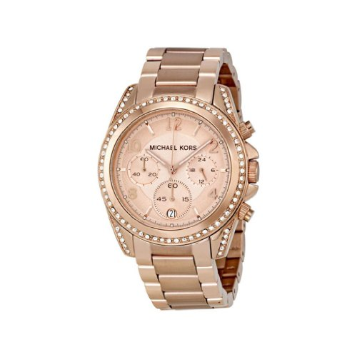 Michael Kors Blair Rose Gold-Tone Chronograph Ladies Watch