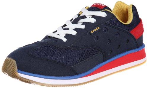 crocs Crocs Retro Sneaker Kids, Sneaker bambino, Bleu - Blau (Navy/Red 485), 34-35