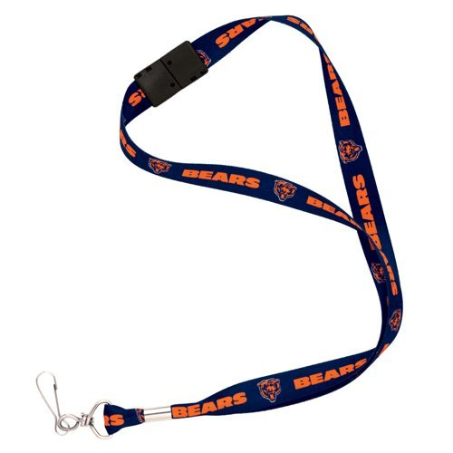 Chicago Bears Nfl Lanyard Logo Clip Tag Neck Keychain With Breakaway For Id Keys Ticket Holder