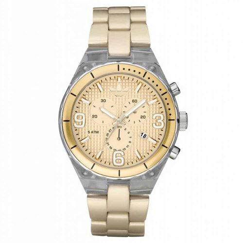 Adidas Unisex ADH2544 Gold Aluminum Quartz Watch with Beige Dial