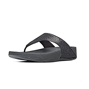 FitFlop's Women's Astrid Thong Sandal,Black,35-36 M EUR/5 B(M) US