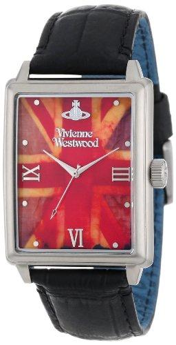 Vivienne Westwood VV066SLBK - Reloj analógico de cuarzo para hombre con correa de piel, color negro