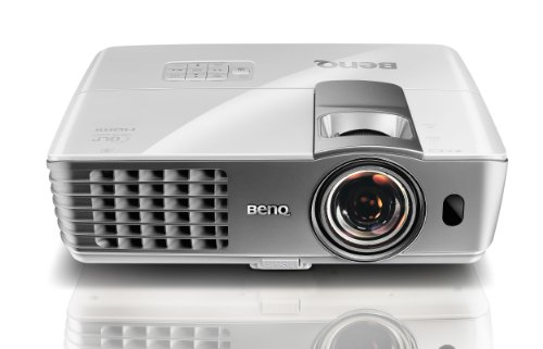 Sale BenQ W1080ST 1080p 3D Short Throw DLP Home Theater Projector (White)