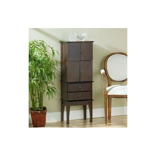 Cherry Wood Jewelry Armoire front-709260