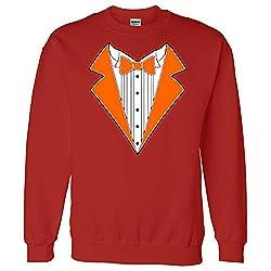 ORANGE TUXEDO Wedding Bachelor Prom TUX Tee Sweatshirt Sweater