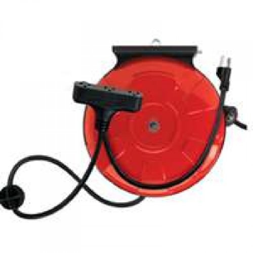 """""""Coleman"""" Retractable Extension Cord Reel With Power Block 30'"""