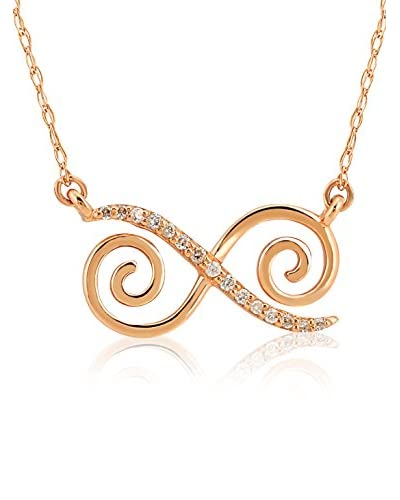 Divas Diamond Collana Diamond Gold Infinity Oro Rosa