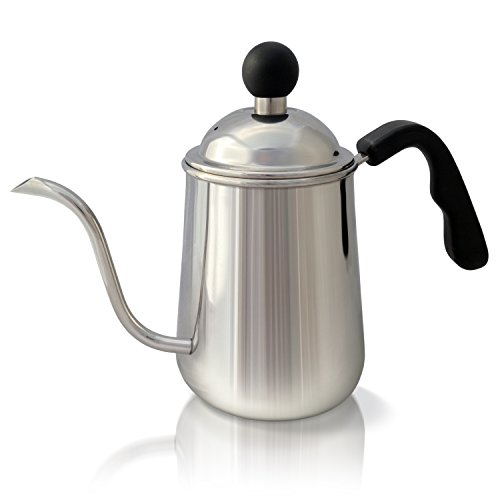 USA K&S Premium Pour Over Coffee & Tea Kettle, 1L. Stainless Steel Gooseneck Drip Pot, for ...