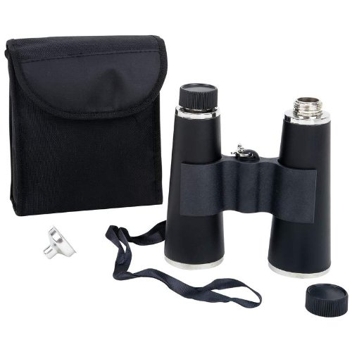 Flask Resembling Binoculars 16 Oz With Carrying Case