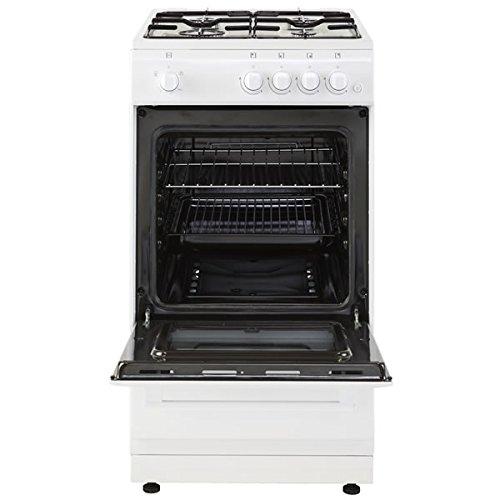 New World Ltd 50GSOW 500mm Single Gas Cooker 4 x Burner Gas Hob White