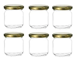 Nakpunar 6 Pcs, 8 Oz Glass Jars for Jam, Honey, Wedding Favors, Shower Favors
