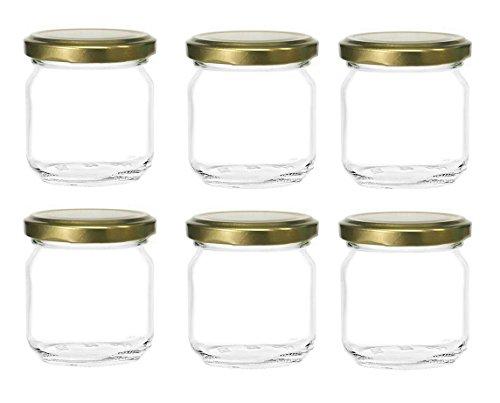 Nakpunar 6 Pcs, 8 Oz Glass Jars for Jam, Honey, Wedding Favors, Shower Favors (6 Glass Jars compare prices)