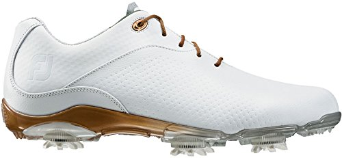 FootJoy DryJoys DNA Womens Golf Shoes 94808 White/Bronze Ladies 8.5 WIDE