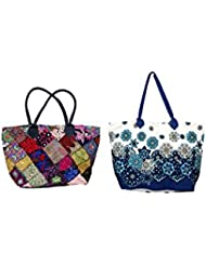 IndiWeaves Combo Offer Women's Multicolor Cotton Handbag (Combo Pack Of 2) - B01IVWH4A2