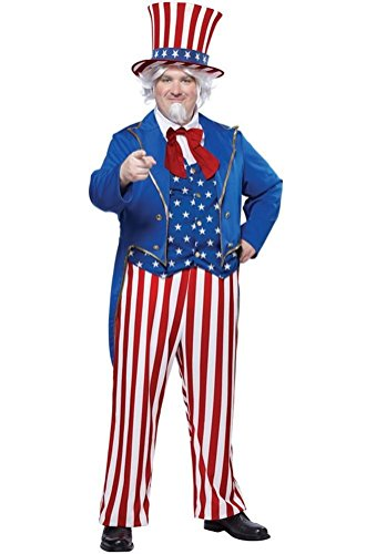 Adult inflatable uncle sam costume