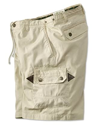 Orvis Mens Surfwashed Sailcloth Cargo Shorts by Orvis