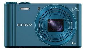 Sony DSC-WX300 Digitalkamera (18,2 Megapixel, 20-fach opt. Zoom, 7,5 (3 Zoll) LCD-Display, Full-HD, micro HDMI) blau