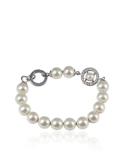 Merii Armband Silber rhodiniert Perle 19 cm