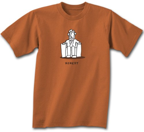 Abe Abraham Lincoln T-shirt - Honest Burnt Orange Adult Tee Shirt