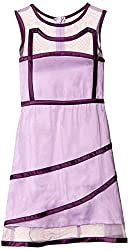 Herberto Girls' Party and Evening Dress (HRBT-DRESS-117-1_Purple_3 - 4  years)