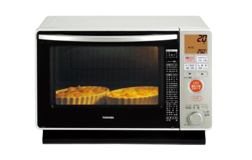 TOSHIBA スチームオーブンレンジ 石窯オーブン 21L アイボリーホワイト ER-H6(W)
