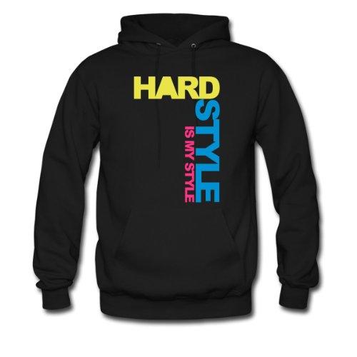 Spreadshirt, Hardstyle Side V4, Men's Hoodie, black, S