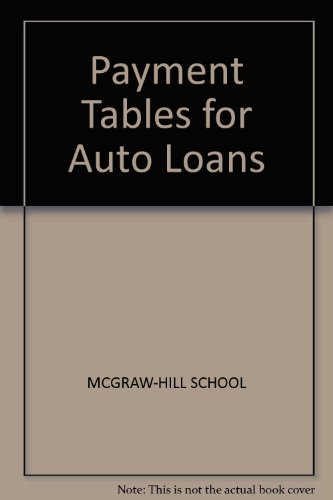 Payment Tables for Auto Loans