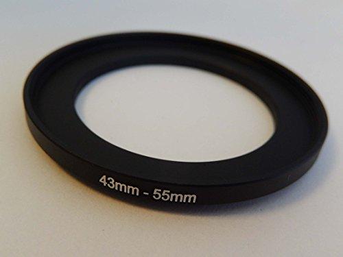 vhbw Step UP Filter-Adapter 43mm-55mm schwarz für Kamera Panasonic, Pentax, Ricoh, Samsung, Sigma, Sony, Tamron