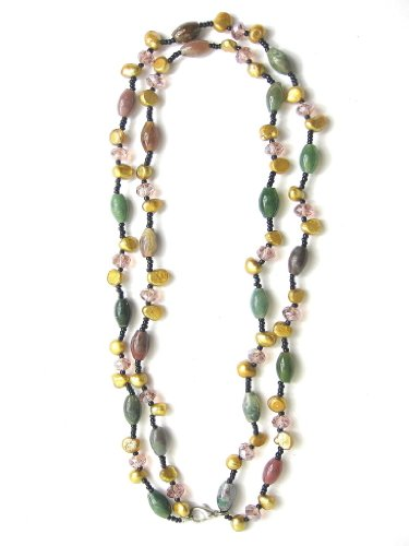 Two Strand Fashion Crystal Pearl Necklace SKU#: nk178