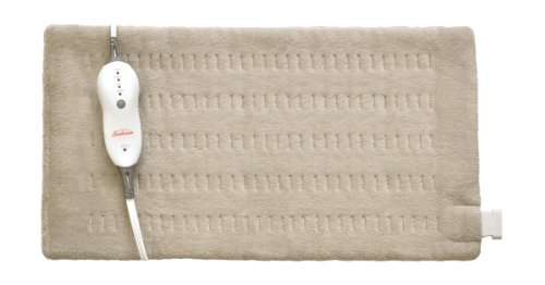 Sunbeam King-Size Moist Integrated Heating Pad, Beige