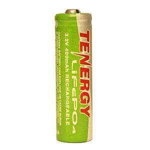 Solar Tenergy AA 14500 LiFePO4 Rechargeable Battery 3.2V 400mAh