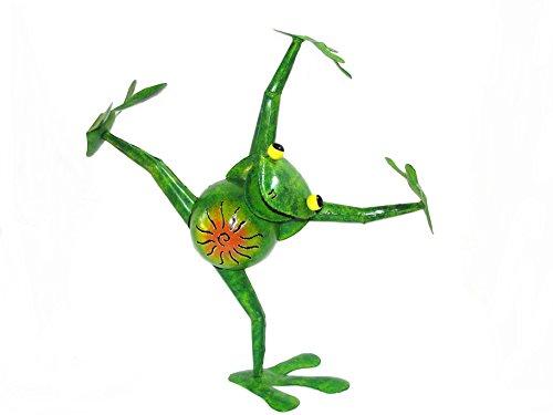 Gartenskulptur frosch dancer 50cm gartendeko metall for Gartenskulpturen metall