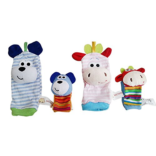 Acekid-Baby-Wrist-Rattles-Hands-Foots-Finders-Infant-Baby-Soft-Education-Development-Toy