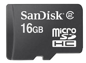 SanDisk 16GB Class 4 microSDHC Memory Card w/SD Adapter