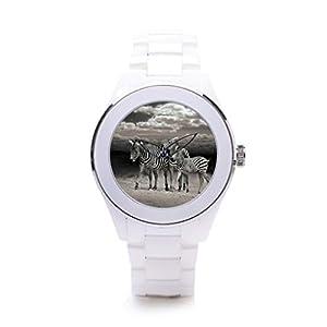QueensLandMen'sCheap Ceramic Watches Beautiful Latest Watches Black And White Photo