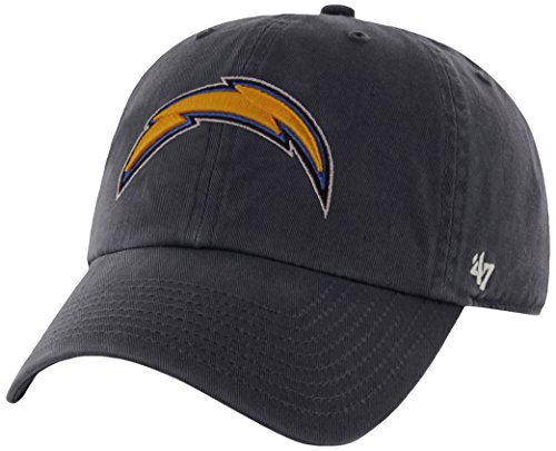 Nfl San Diego Chargers Clean Up Adjustable Hat, Navy, One Size Fits All Fits All
